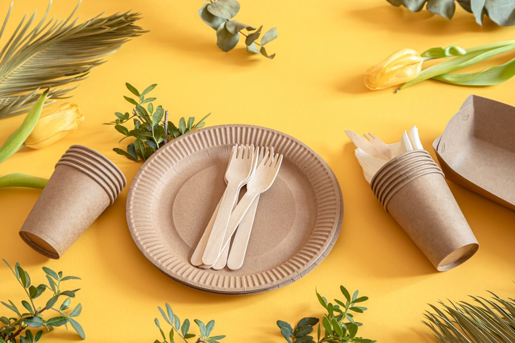 Platos biodegradables