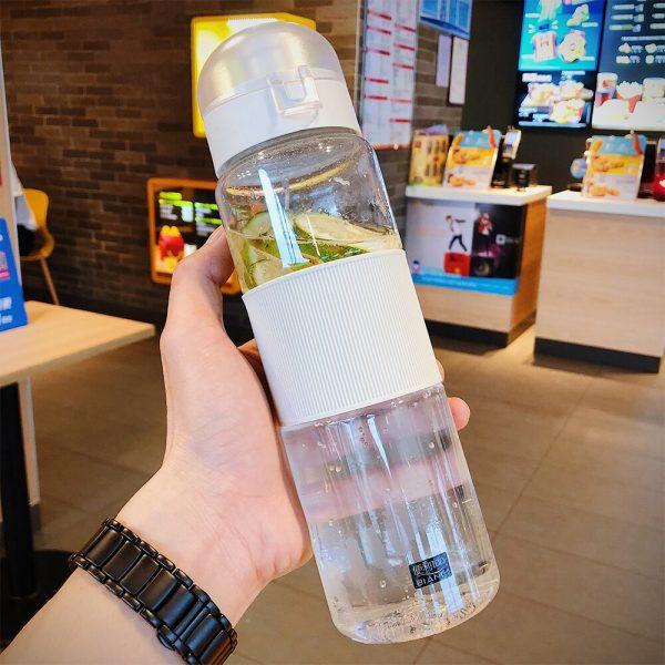 800ML coctelera deportes botellas de agua creativa al aire libre Tour de Camping mi botella de bebida para agua de plástico Drinkware sellar hasta prueba de fugas