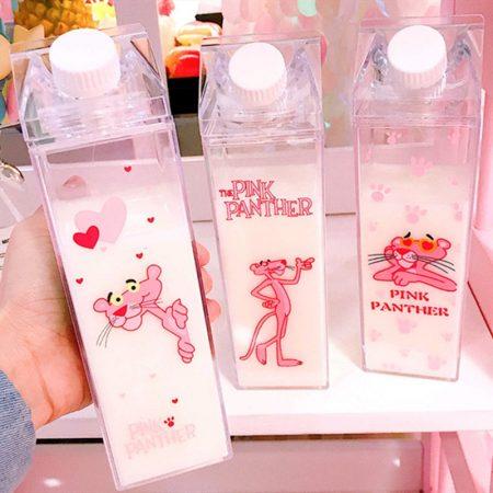 Botella de agua de cartón de leche a prueba de fugas de cocina, botellas de jugo de 500ML, botella de agua de plástico, botella de agua de cartón de leche transparente, botella de agua con