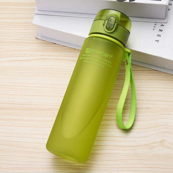 Botella de agua, 400 ml, 560 ml, plástico, Gourde en Plastique, coctelera deportiva directa, botellas de senderismo, botella portátil para agua