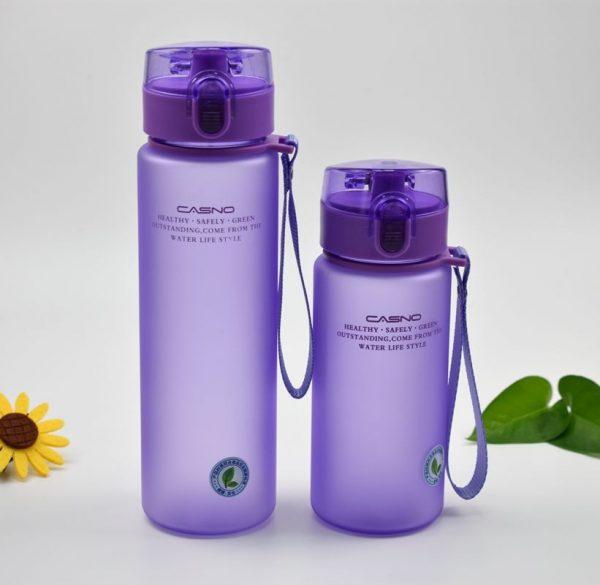 Botella de agua deportiva a prueba de fugas sin BPA, de gran calidad, para excursión, senderismo, portátil, mis botellas de bebida favoritas, 400ml, 560ml, gratis