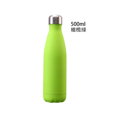 Termo de agua de 500ML, termo doble de acero inoxidable 304, termo al vacío, termo para deportes al aire libre, botella de bebida térmica garrafa te