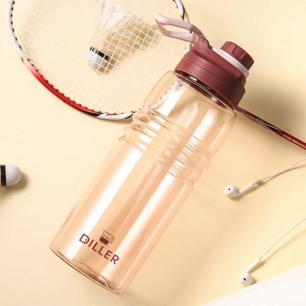 Botella de agua deportiva de gran capacidad de 2000ML 1500 1000ML Leakpro para actividades al aire libre, hervidor sellado portátil de plástico PC para culturismo
