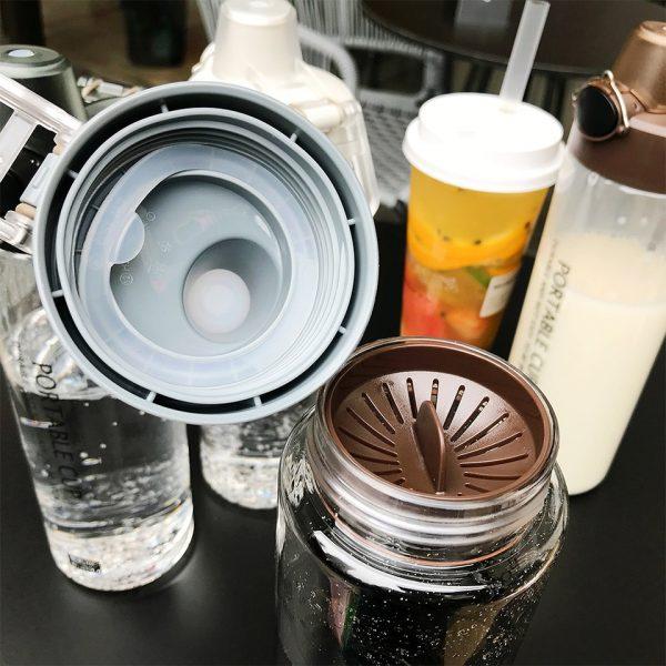 Explosión deportes botellas de agua 800 proteína ML Shaker al aire libre viaje portátil a prueba de fugas PC botella de plástico botella transparente