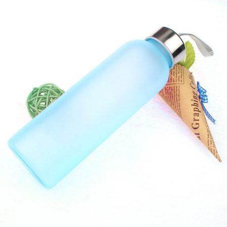 2019 gran oferta nueva filtración fuerte jugo de fruta deporte cuerda portátil esmerilado de vidrio de fregar de viaje de botella de agua regalo 600ML