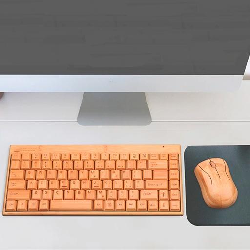 teclado de madera para pc productos innovadores ecológicos para el hogar