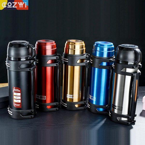 1.2l/1.5l/2l de Thermosflask termo de agua botella de café de acero inoxidable taza de café taza de calor frío preservación