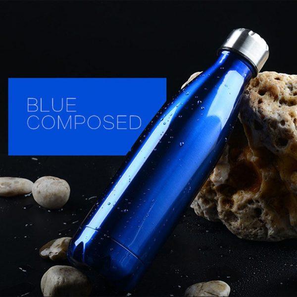 350/500/750/1000ml frasco de vacío de doble pared con aislamiento de calor de acero inoxidable termo para deporte botellas de agua, portátiles termos