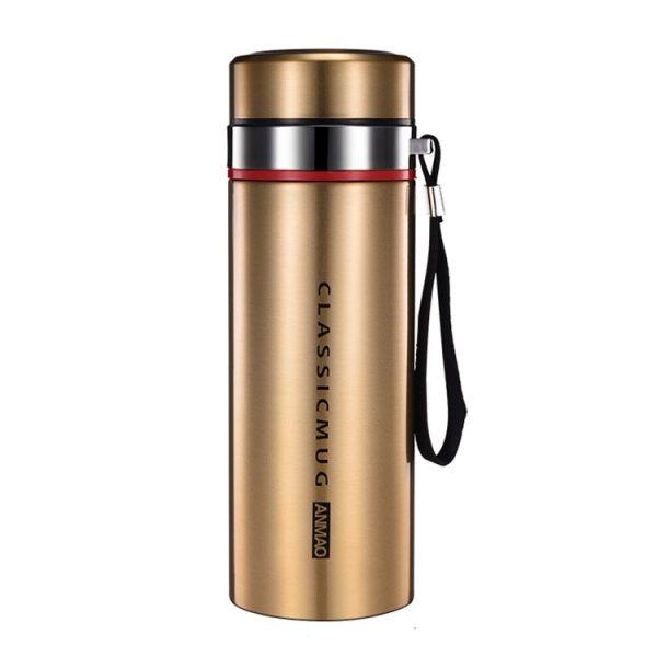 1000ml/800ml/600ml de doble Acero inoxidable termo taza con filtro portátil aislado taza vaso frasco al vacío de la botella de agua