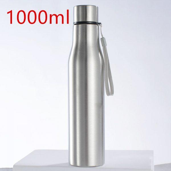 botella de agua de acero inoxidable Botella de agua portátil para deportes de Ciclismo de acero inoxidable botellas de Cola de agua fría caliente de una sola pared matraz de vacío hidromatraz 500/750ml