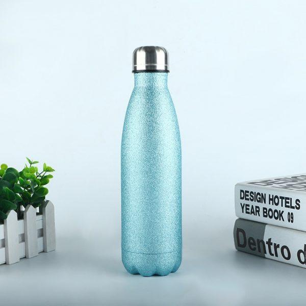 Logotipo personalizado termo frasco al vacío frascos de botella de agua de acero inoxidable portátil deportes regalo tazas