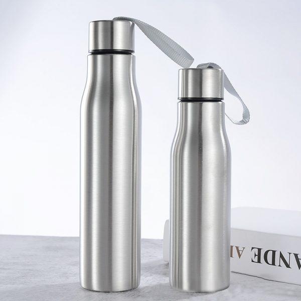 Botella de agua de acero inoxidable de 500ml/1000ml, frasco hidráulico delgado con mango, botella de agua fría caliente portátil para deportes de ciclismo, Viajes