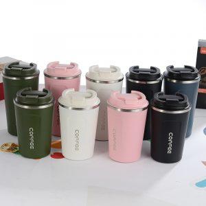 Termo de acero inoxidable taza de prueba de fugas taza térmica termo de viaje de taza de botella de agua de vidrio tazas de café Taza de Viaje aislado taza