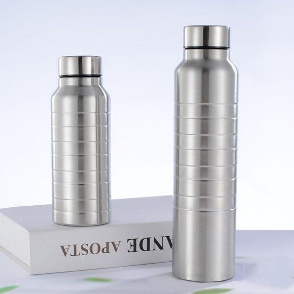 650/1000ml de agua de acero inoxidable botella portátil botella de agua de gran capacidad de resistencia a la corrosión botella térmica botella de vacío botella de