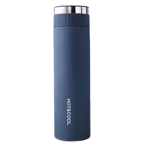 De acero inoxidable de 500ml botella de agua portátil de doble pared aislado al vacío deportes de agua caliente hielo termo taza botella de agua F1016