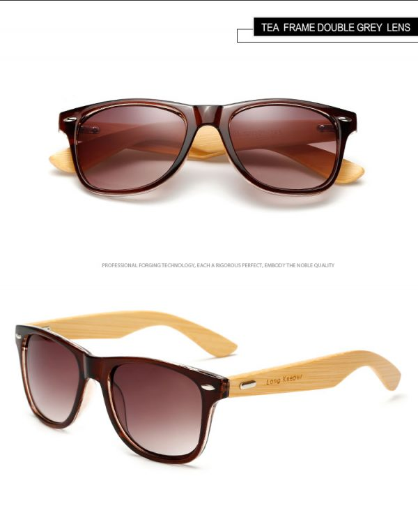Gafas de sol ecologicas polarizadas de madera de bambú cristales espejados