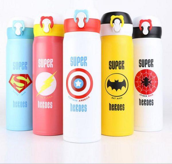 350/500ML de dibujos animados lindo garrafa termica thermo Taza Termo de acero inoxidable frasco de vacío para niños niñas hombres botella de agua