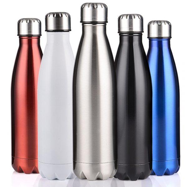 Termo aislado de doble pared de 350/500/750/1000ml, botella de agua de acero inoxidable, botella de agua, agua, cerveza, termo para botella deportiva