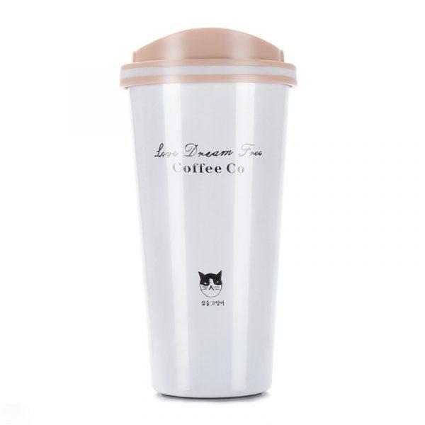 500ML termo taza de café taza con tapa Thermocup sello de vacío de acero inoxidable frascos termos Thermo taza para coche mi botella de agua