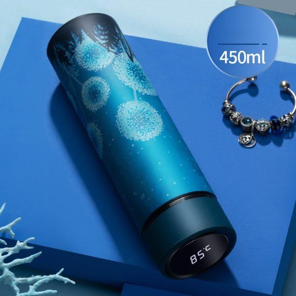 450ml termo vacío frascos Pantalla de temperatura de agua de acero inoxidable botella de viaje taza mágica taza de café té Taza de leche taza térmica