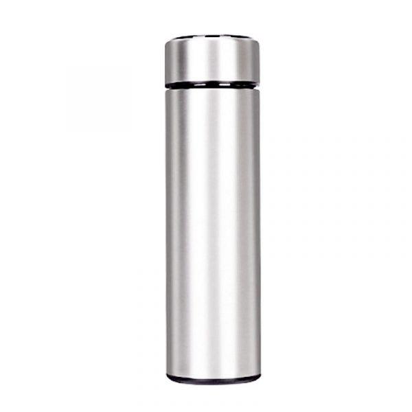 Botella de agua inteligente de acero inoxidable, a prueba de fugas, doble pared, mantiene la bebida caliente y fría, pantalla LCD de temperatura
