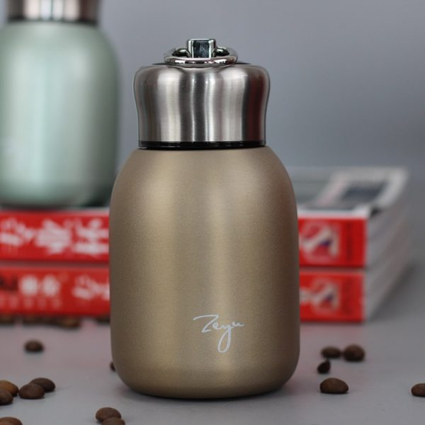 Lindo mini portátil de acero inoxidable frasco de vacío compacta exquisita agua caliente termos termo de acero inoxidable kubek termiczny