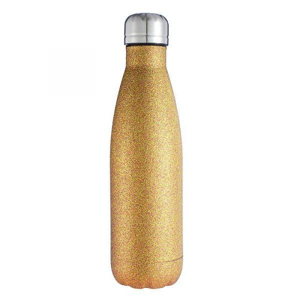 Botella de agua de acero inoxidable de 500ml para niñas, bonita botella de Cola, termo térmico de doble pared con aislamiento al vacío para mujer