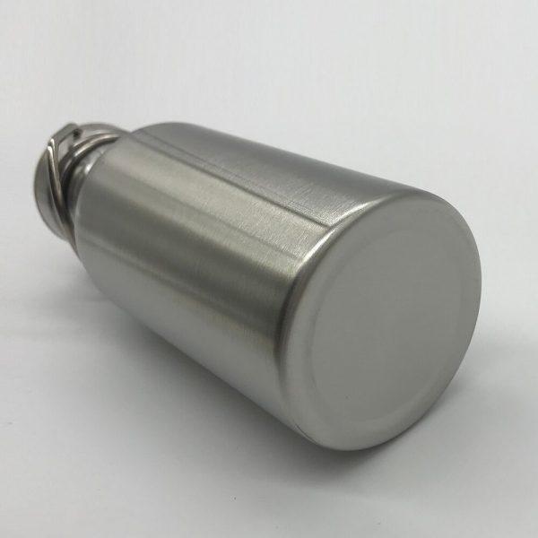 Portátil botella de agua de acero inoxidable tapa de bambú deportes frascos a prueba de fugas viajes ciclismo 1000ml/750ml botellas para acampada libre de BPA