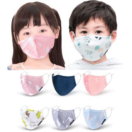 PM2.5 mascarilla niños máscara facial reutilizable de algodón para chico y niña, máscara protectora de 4 capas para mascarillas niños, máscara filtrante a prueba de polvo y contaminación