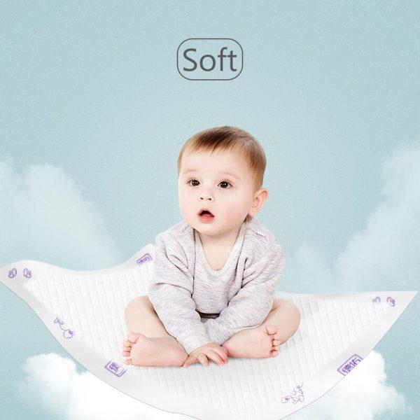 Deyo pañal bebé almohadilla de orina desechable 100% pulpa de madera virgen impermeable pañales transpirables bebés cambiar Pad paquete de prueba 15 Uds