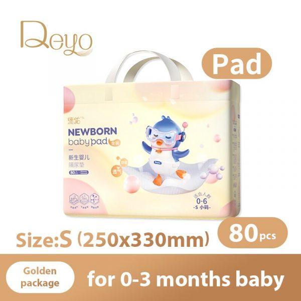 Pañales desechables empapador para bebé recién nacido impermeable transpirable pañales ecológicos bebés absorción rápida Underpads