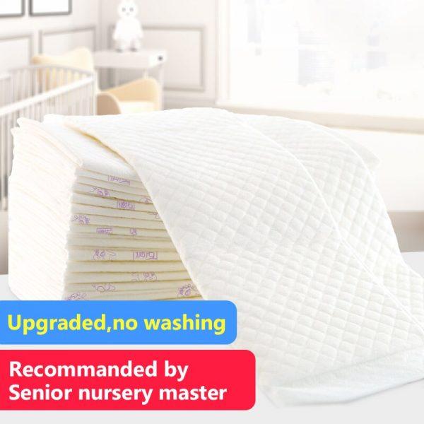 Pañales para bebé Deyo, transpirables, transpirables, de rápida absorción, desechables, almohadillas de orina para cambiar pañales ecológicos